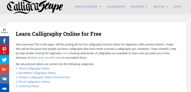 Calligrascape Learn Calligraphy Lessons Online