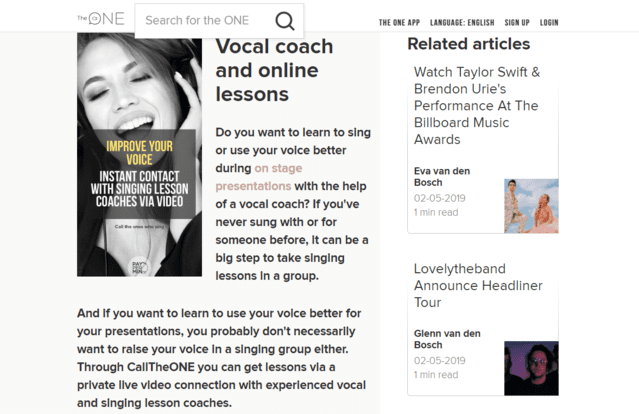 Calltheone Learn Vocal Lessons Online