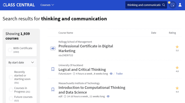 Classcentral Learn Thinking And Communication Lessons Online
