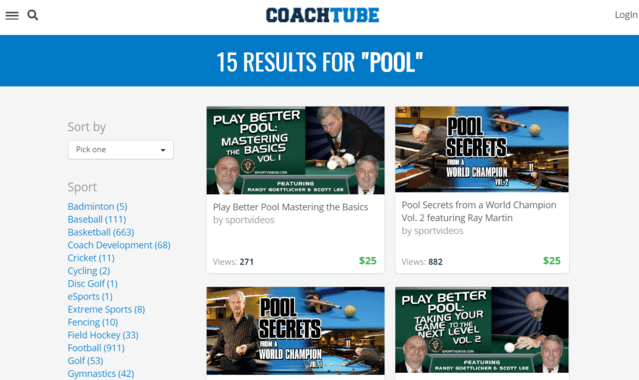 Coachtube Learn Pool Lessons Online