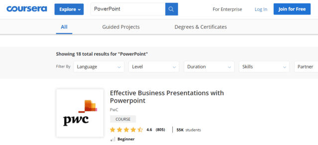 Coursera Learn PowerPoint PPT Lessons Online