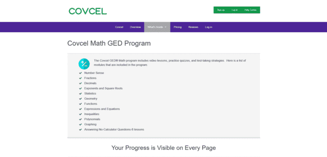 Covcel Learn GED Math Lessons Online