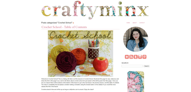 Craftyminx Learn Crocheting Lessons Online