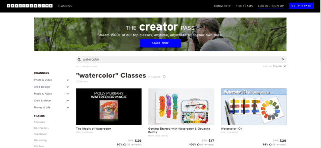 Creativelive Learn Watercolour Painting Lessons Online