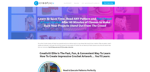 Creativiu Learn Crocheting Lessons Online