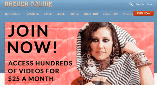 Daturaonline Learn Belly Dance Lessons Online