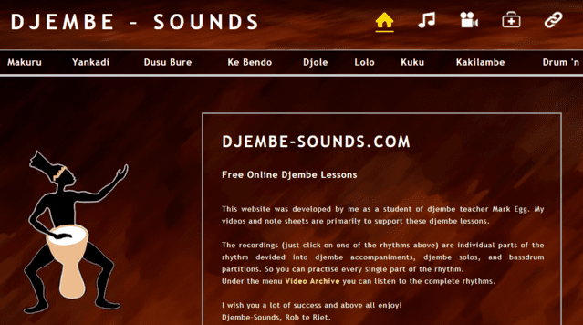 Djembesounds Learn Djembe Lessons Online