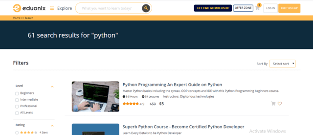 Eduonix Learn Python Lessons Online