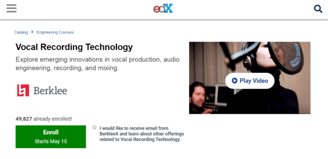 EDX Learn Vocal Lessons Online