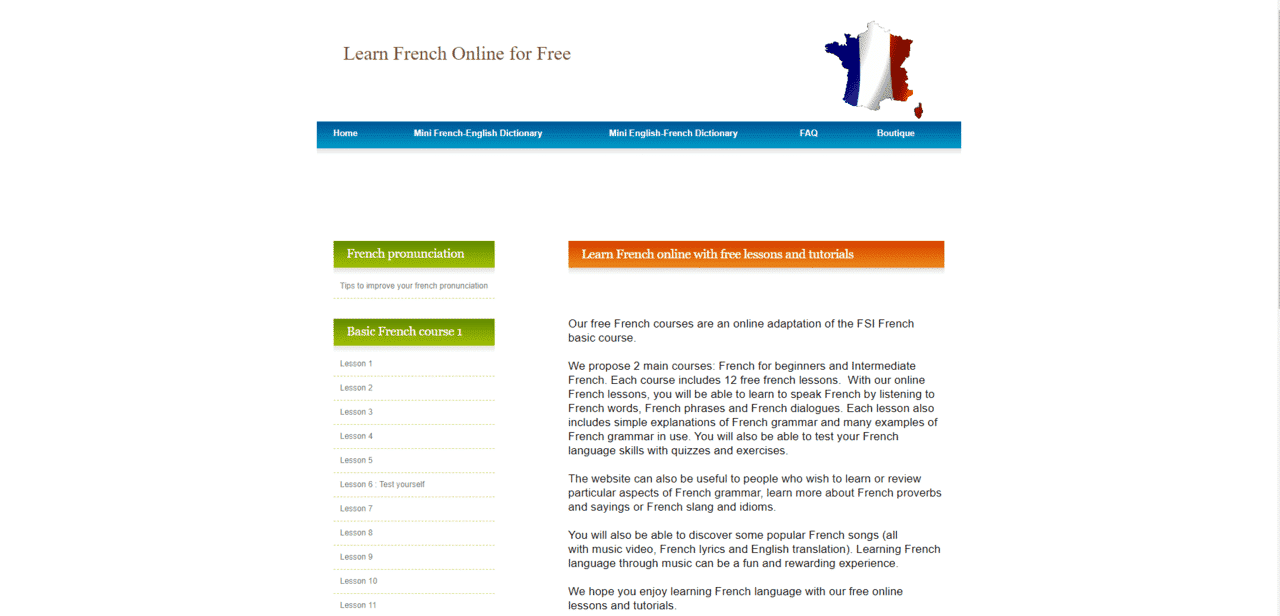 ELearningFrench Learn French Lessons Online