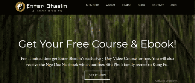 EnterShaolin Learn Kung Fu Lessons Online