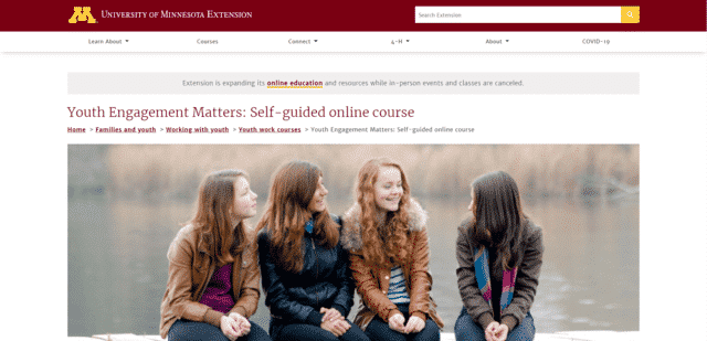 Extension Learn Youth Lessons Online