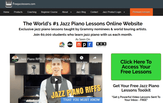 Freejazzlessons Learn Jazz Piano Lessons Online