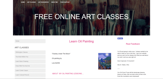 Freeonlineartclasses Learn Oil Painting Lessons Online