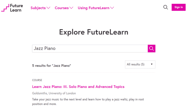 Futurelearn Learn Jazz Piano Lessons Online