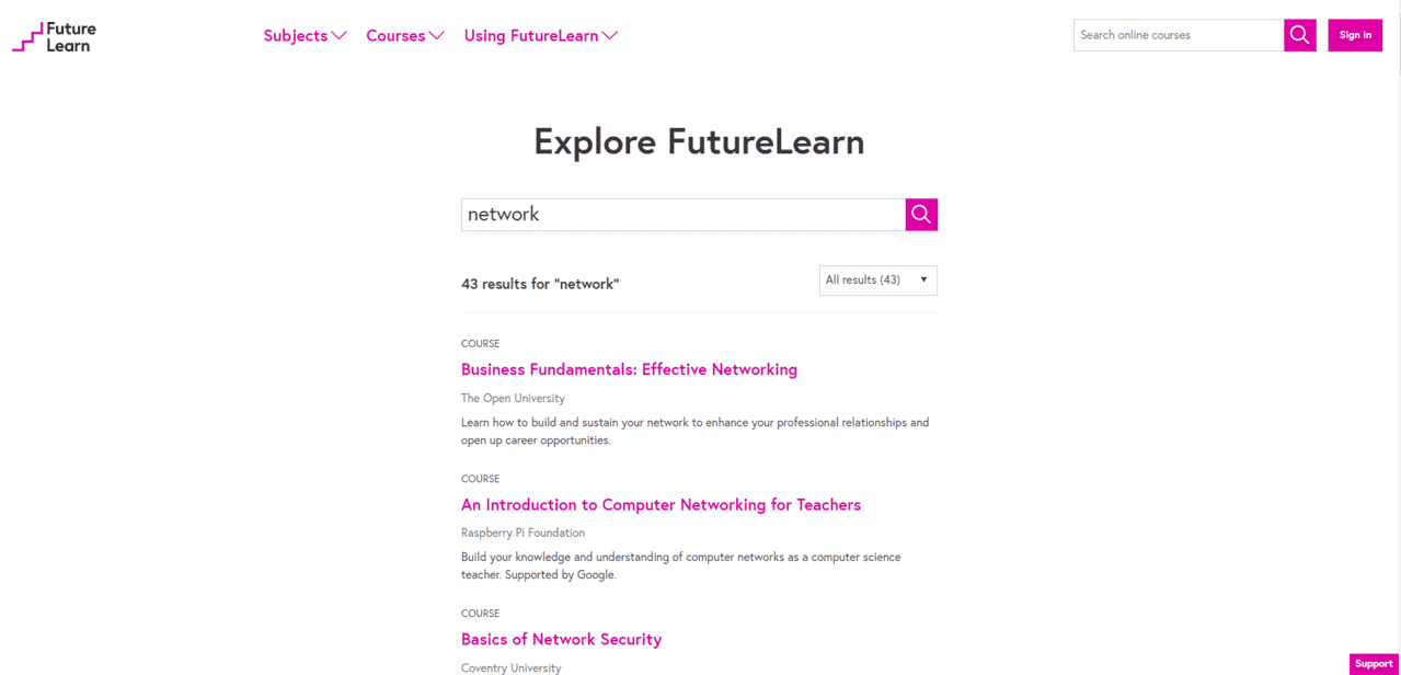 Futurelearn Learn Networking Lessons Online