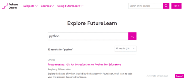 Futurelearn Learn Python Lessons Online