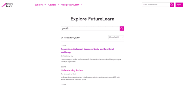 Futurelearn Learn Youth Lessons Online