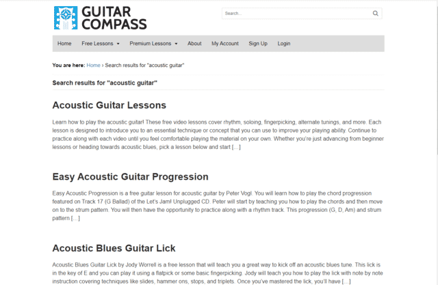 GuitarCompass-learn Acoustic Guitar Lessons Online
