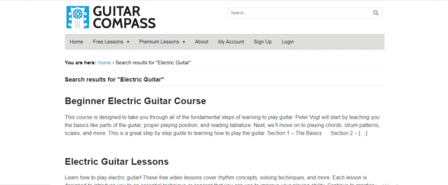 GuitarCompass Learn Electric Guitar Lessons Online