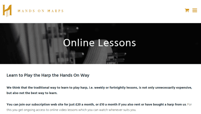 Handsonharps Learn Harp Lessons Online