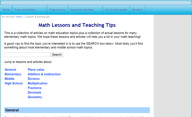 HomeSchoolMath Learn Maths Lessons Online