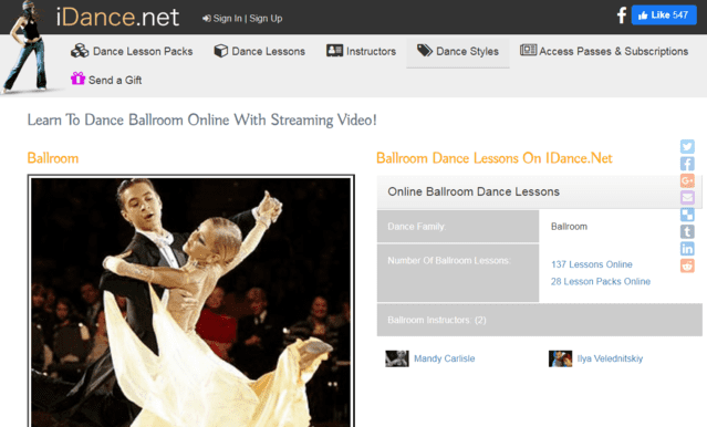 iDance Learn Ballroom Dance Lessons Online