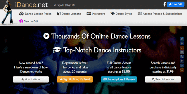 Idance Learn Dance Lessons Online