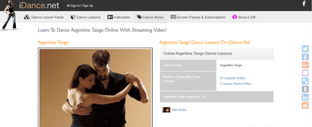 iDance Learn Tango Lessons Online