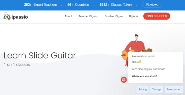 Ipassio Learn Slide Guitar Lessons Online