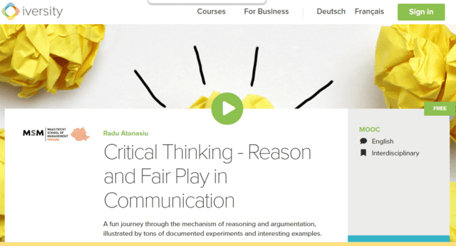 Iversity Learn Thinking And Communication Lessons Online