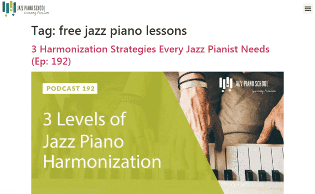 Jazzpianoschool Learn Jazz Piano Lessons Online