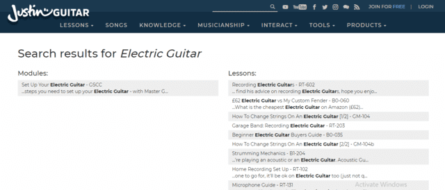 JustinGuitar Learn Electric Guitar Lessons Online