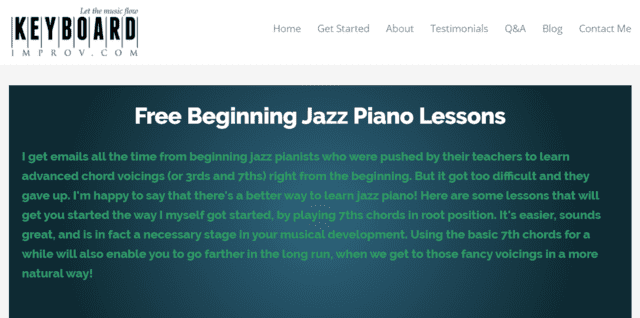 Keyboardimprov Learn Jazz Piano Lessons Online