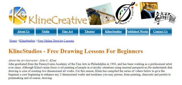 Klinecreative Learn Drawing Lessons Online
