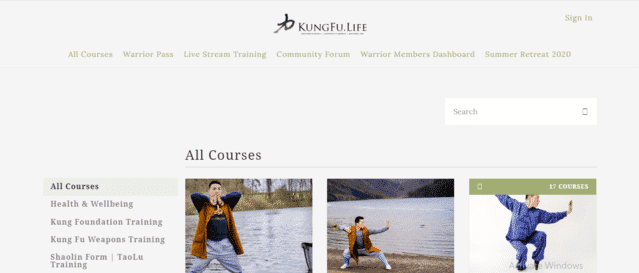 KungFuLife Learn Kung Fu Lessons Online