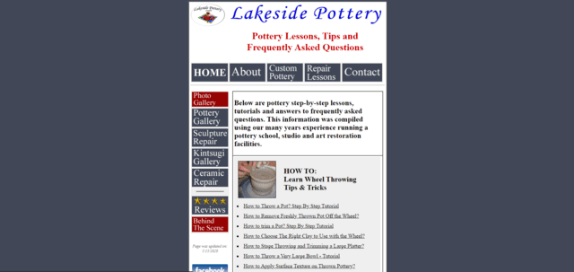 Lakesidepottery Learn Pottery Lessons Online