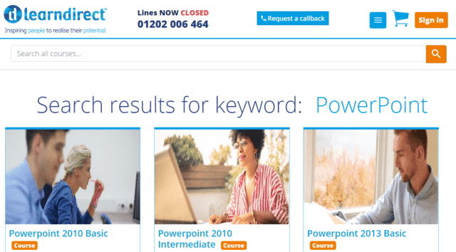 Learndirect Learn PowerPoint PPT Lessons Online