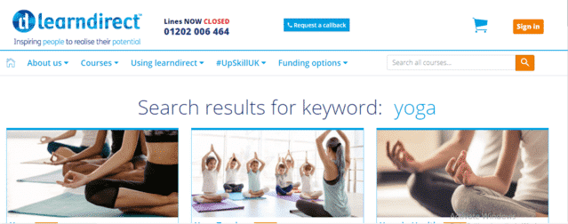 LearnDirect Learn Yoga Lessons Online