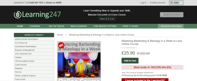 Learning247 Learn Mixology Lessons Online