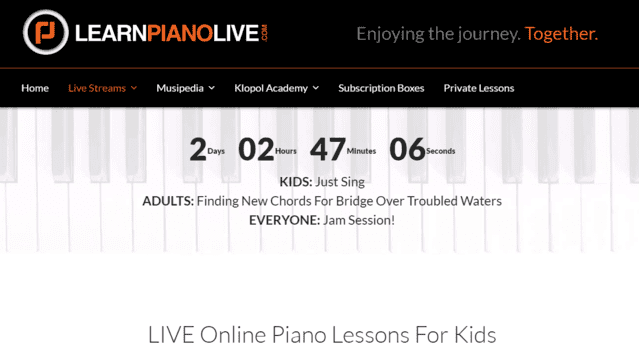 Learnpianolive Learn Kids Piano Lessons Online