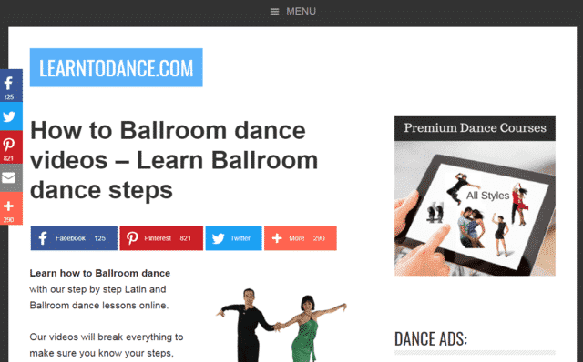 Learntodance Learn Ballroom Dance Lessons Online