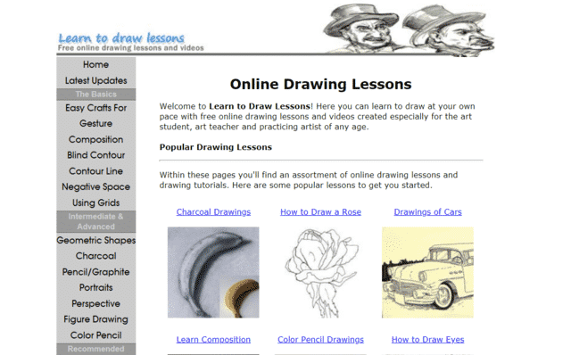 Learntodrawlessons Learn Drawing Lessons Online