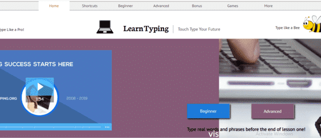 LearnTyping Learn Typing Lessons Online