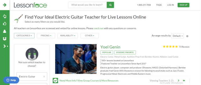 Lessonface Learn Electric Guitar Lessons Online