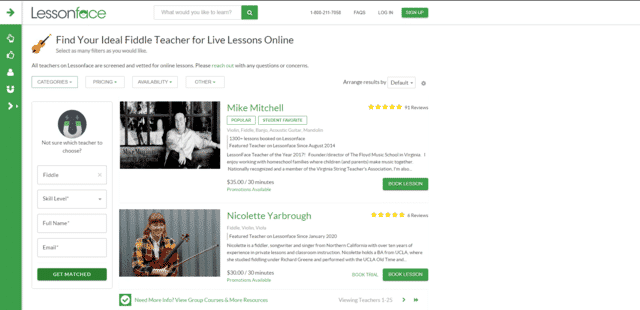 Lessonface Learn Fiddle Lessons Online