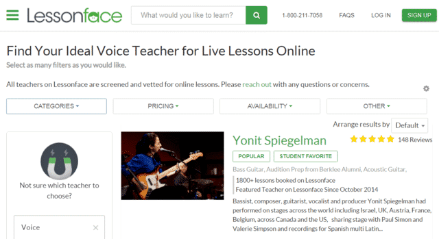 Lessonface Learn Voice Lessons Online