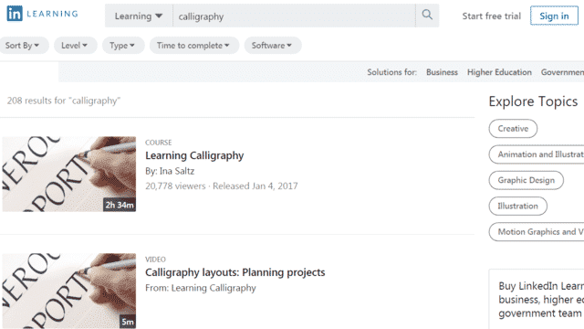 Linkedin Learn Calligraphy Lessons Online