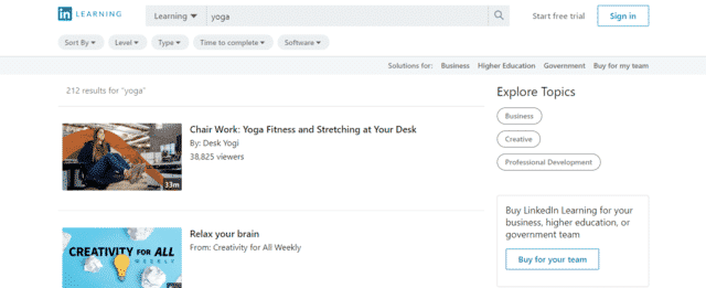 Linkedin Learn Yoga Lessons Online
