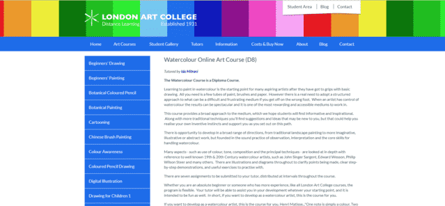 Londonartcollege Learn Watercolour Painting Lessons Online
